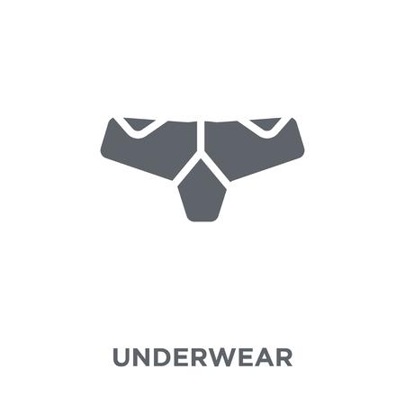 Underwear icon. Underwear design concept from  collection. Simple element vector illustration on white background.