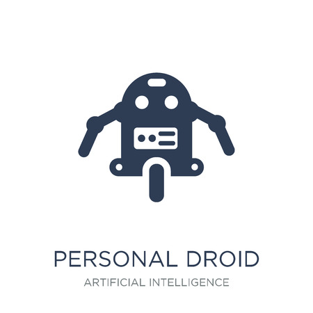 Personal droid icon. Trendy flat vector Personal droid icon on white background from Artificial Intelligence, Future Technology collection, vector illustration can be use for web and mobile, eps10