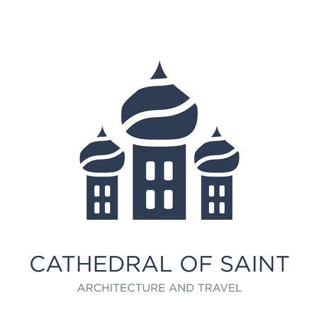 Cathedral of saint basil icon. Trendy flat vector Cathedral of saint basil icon on white background from Architecture and Travel collection, vector illustration can be use for web and mobile, eps10