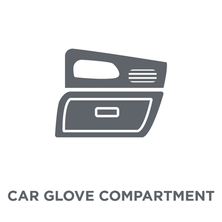 car glove compartment icon. car glove compartment design concept from Car parts collection. Simple element vector illustration on white background.