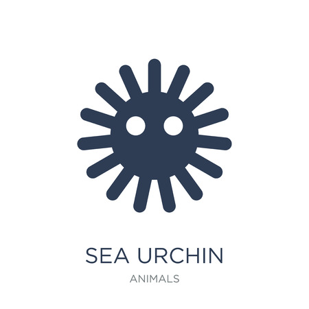 Icône d'oursin. Icône d'oursin vecteur plat sur un fond blanc de la collection d'animaux, illustration vectorielle peut être utilisé pour le web et mobile, eps10