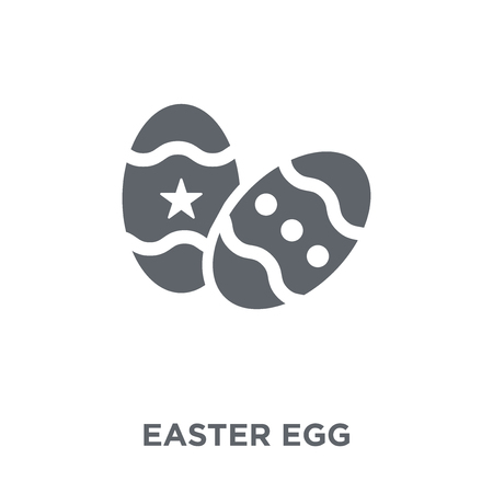 Easter egg icon. Easter egg design concept from Christmas collection. Simple element vector illustration on white background.