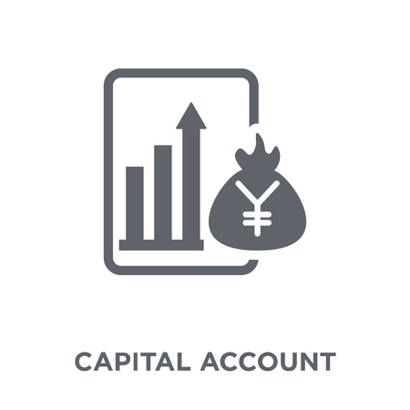 Capital account icon. Capital account design concept from Capital account collection. Simple element vector illustration on white background.