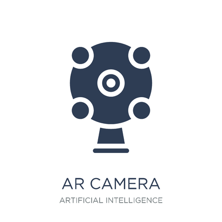Ar camera icon. Trendy flat vector Ar camera icon on white background from Artificial Intelligence, Future Technology collection, vector illustration can be use for web and mobile, eps10