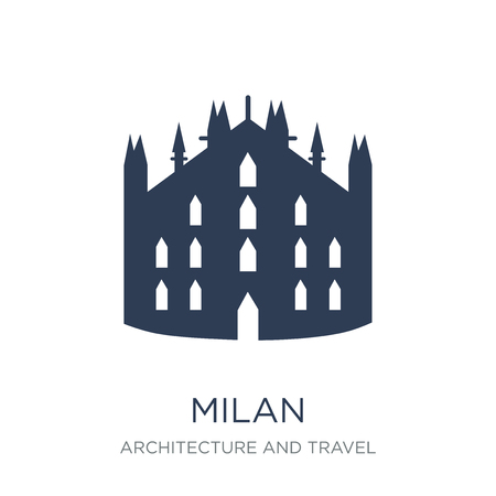 Milan icon. Trendy flat vector Milan icon on white background from Architecture and Travel collection, vector illustration can be use for web and mobile, eps10