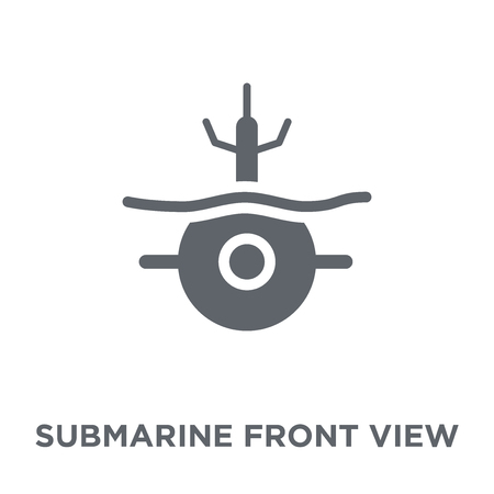 Submarine Front View icon. Submarine Front View design concept from Army collection. Simple element vector illustration on white background.