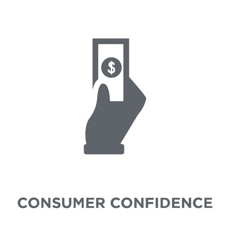Consumer confidence icon. Consumer confidence design concept from Consumer confidence collection. Simple element vector illustration on white background. Çizim