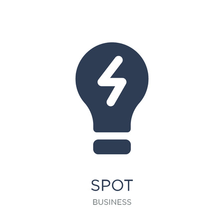 Spot marketspot price icon. Trendy flat vector Spot marketspot price icon on white background from business collection, vector illustration can be use for web and mobile, eps10