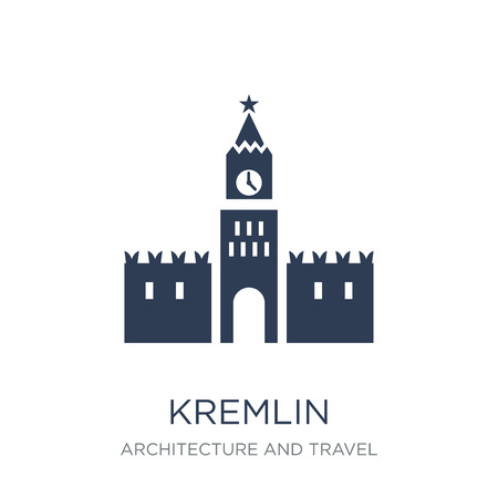 Kremlin icon. Trendy flat vector Kremlin icon on white background from Architecture and Travel collection, vector illustration can be use for web and mobile, eps10 Stock Vector - 111999539