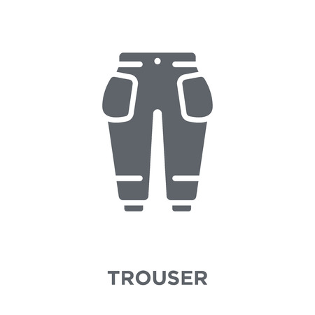 Trouser icon. Trouser design concept from Clothes collection. Simple element vector illustration on white background.