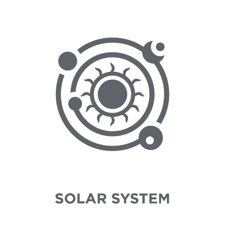 Solar system icon. Solar system design concept from Astronomy collection. Simple element vector illustration on white background.