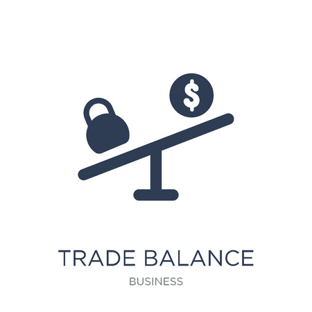 Trade balance icon. Trendy flat vector Trade balance icon on white background from business collection, vector illustration can be use for web and mobile, eps10 Archivio Fotografico - 111920634