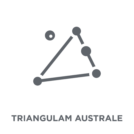 Triangulam australe icon. Triangulam australe design concept from Astronomy collection. Simple element vector illustration on white background. 向量圖像