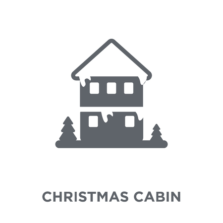 christmas Cabin icon. christmas Cabin design concept from Christmas collection. Simple element vector illustration on white background. Banque d'images - 111999557