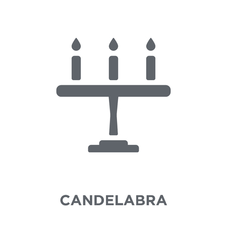 Candelabra icon. Candelabra design concept from Wedding and love collection. Simple element vector illustration on white background. Stock Illustratie