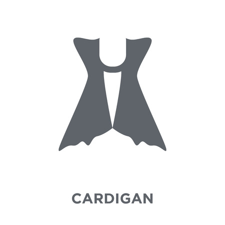 Cardigan icon. Cardigan design concept from Clothes collection. Simple element vector illustration on white background.