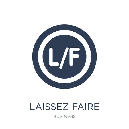Laissez-faire icoon. Trendy platte vector Laissez-faire pictogram op witte achtergrond uit Business collectie, vectorillustratie kan worden gebruikt voor web en mobiel, eps10