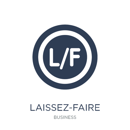 Laissez-faire icon. Trendy flat vector Laissez-faire icon on white background from Business collection, vector illustration can be use for web and mobile, eps10