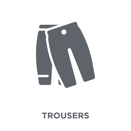 Trousers icon. Trousers design concept from  collection. Simple element vector illustration on white background. Stok Fotoğraf - 111999582