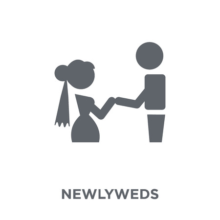 Newlyweds icon. Newlyweds design concept from Wedding and love collection. Simple element vector illustration on white background.