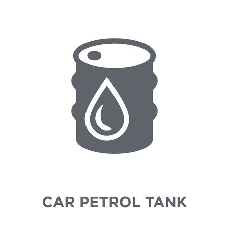 car petrol tank icon. car petrol tank design concept from Car parts collection. Simple element vector illustration on white background. Illustration