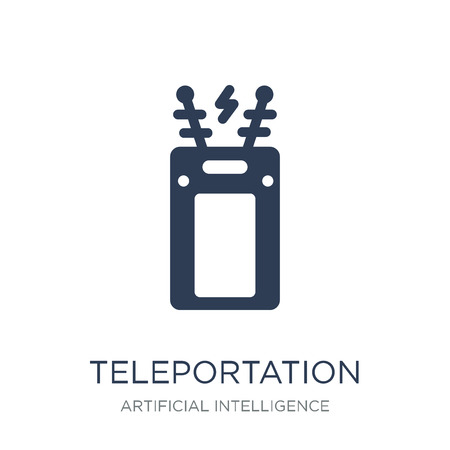 Teleportation icon. Trendy flat vector Teleportation icon on white background from Artificial Intelligence, Future Technology collection, vector illustration can be use for web and mobile, eps10