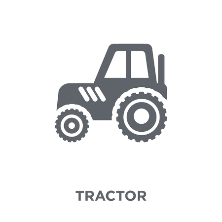 Tractor icon. Tractor design concept from Agriculture, Farming and Gardening collection. Simple element vector illustration on white background. Illustration