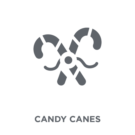 Candy canes icon. Candy canes design concept from Christmas collection. Simple element vector illustration on white background. Stock Vector - 112000596