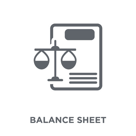 Balance sheet icon. Balance sheet design concept from Balance sheet collection. Simple element vector illustration on white background. Imagens - 112000594