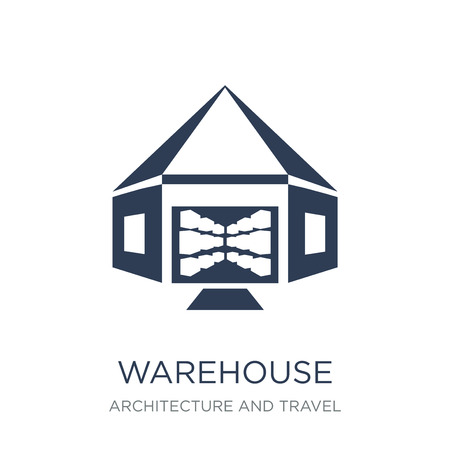 Warehouse icon. Trendy flat vector Warehouse icon on white background from Architecture and Travel collection, vector illustration can be use for web and mobile, eps10