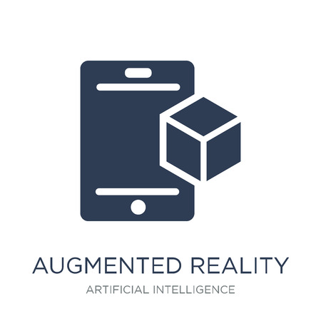 Augmented reality icon. Trendy flat vector Augmented reality icon on white background from Artificial Intelligence, Future Technology collection, vector illustration can be use for web and mobile, eps10