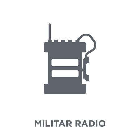 Militar Radio icon. Militar Radio design concept from Army collection. Simple element vector illustration on white background. Ilustracja