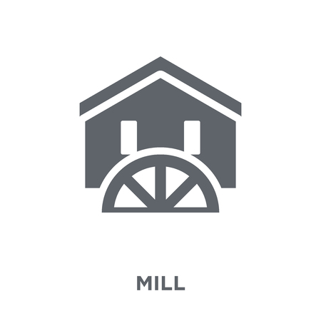 Mill icon. Mill design concept from Agriculture, Farming and Gardening collection. Simple element vector illustration on white background. Ilustração