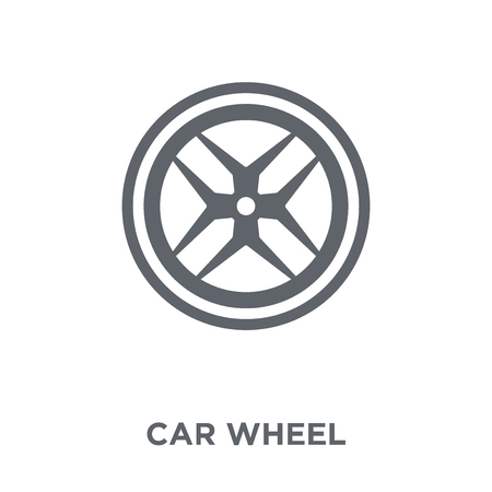 car wheel icon. car wheel design concept from  collection. Simple element vector illustration on white background.