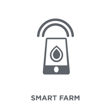 Smart farm icon. Smart farm design concept from Agriculture, Farming and Gardening collection. Simple element vector illustration on white background. Illustration