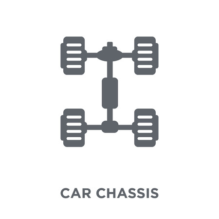 car chassis icon. car chassis design concept from Car parts collection. Simple element vector illustration on white background.