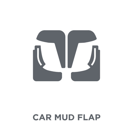 car mud flap icon. car mud flap design concept from Car parts collection. Simple element vector illustration on white background.