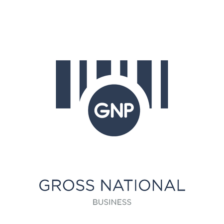 Gross national product (GNP) icon. Trendy flat vector Gross national product (GNP) icon on white background from Business collection, vector illustration can be use for web and mobile, eps10