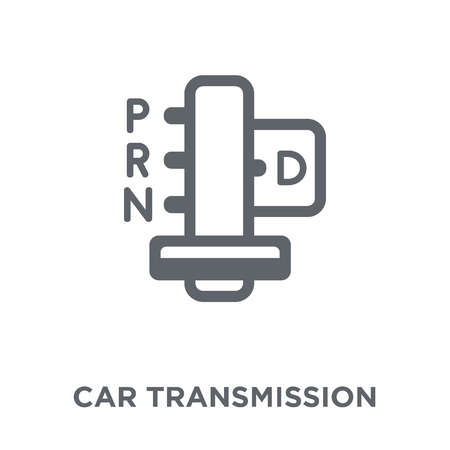 car transmission icon. car transmission design concept from Car parts collection. Simple element vector illustration on white background.