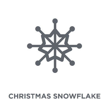 Christmas snowflake icon. Christmas snowflake design concept from Christmas collection. Simple element vector illustration on white background.