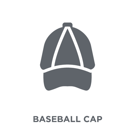 Baseball cap icon. Baseball cap design concept from  collection. Simple element vector illustration on white background.