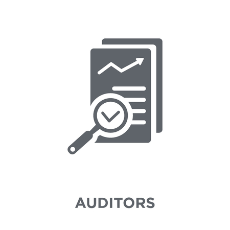 Auditors icon. Auditors design concept from Auditors collection. Simple element vector illustration on white background. Çizim