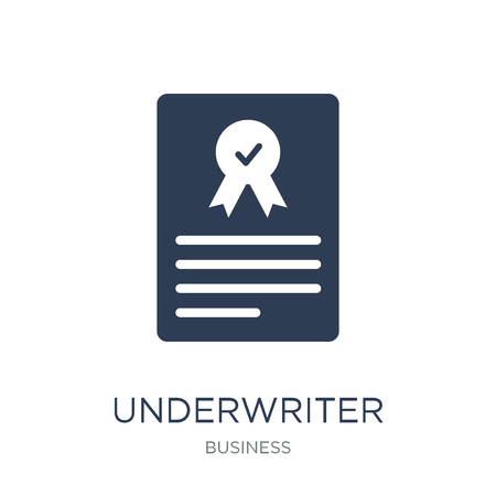 Underwriter (shares) icon. Trendy flat vector Underwriter (shares) icon on white background from business collection, vector illustration can be use for web and mobile, eps10