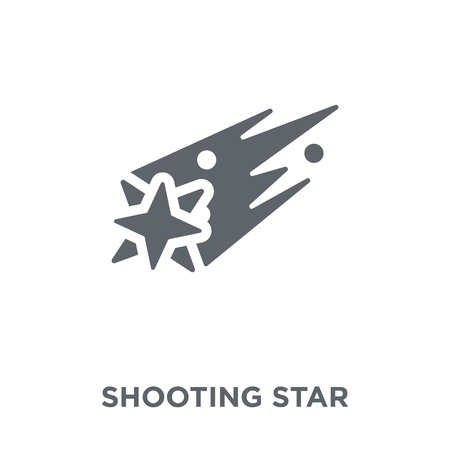 Shooting star icon. Shooting star design concept from Astronomy collection. Simple element vector illustration on white background.