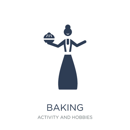 Baking icon. Trendy flat vector Baking icon on white background from Activity and Hobbies collection, vector illustration can be use for web and mobile, eps10
