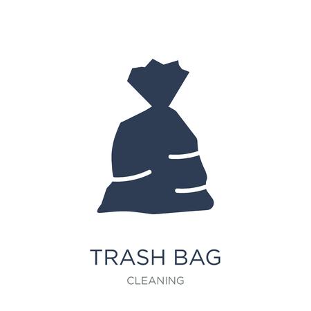 Müllsack-Symbol. Trendiges flaches Vektor-Mülleimer-Symbol auf weißem Hintergrund aus der Reinigungssammlung, Vektorillustration kann für Web und Mobile verwendet werden, eps10