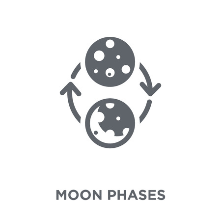 Moon phases icon. Moon phases design concept from collection. Simple element vector illustration on white background.