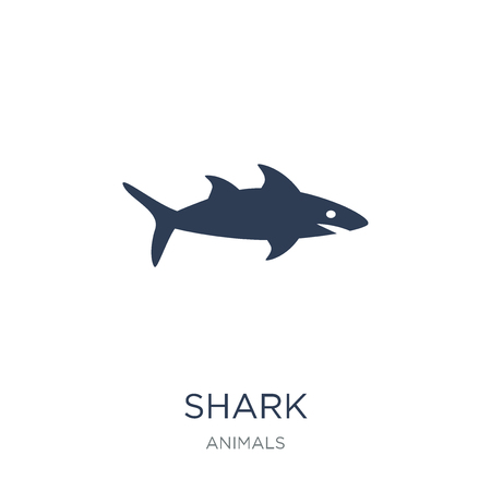 Shark icon. Trendy flat vector Shark icon on white background from animals collection, vector illustration can be use for web and mobile, eps10