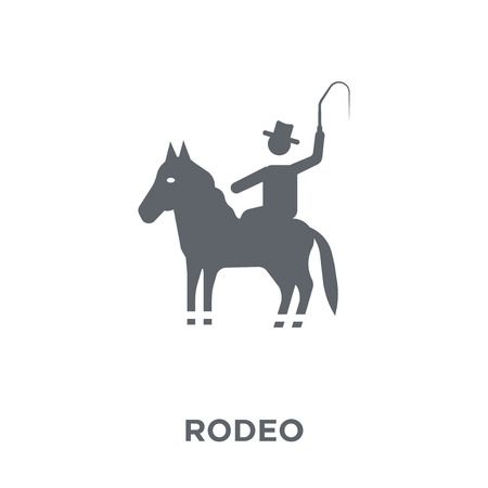 rodeo icon. rodeo design concept from Circus collection. Simple element vector illustration on white background. Illusztráció