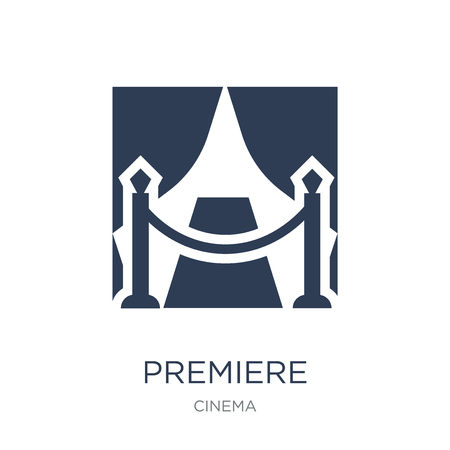 Premiere icon. Trendy flat vector Premiere icon on white background from Cinema collection, vector illustration can be use for web and mobile, eps10